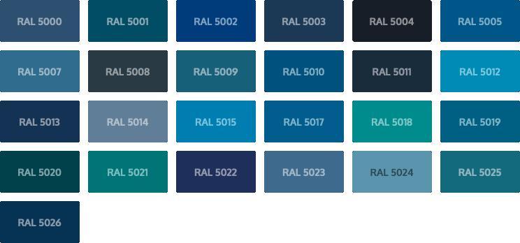 RAL Classic kleuren - blauw
