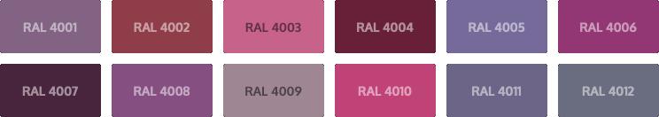 RAL Classic kleuren - paars
