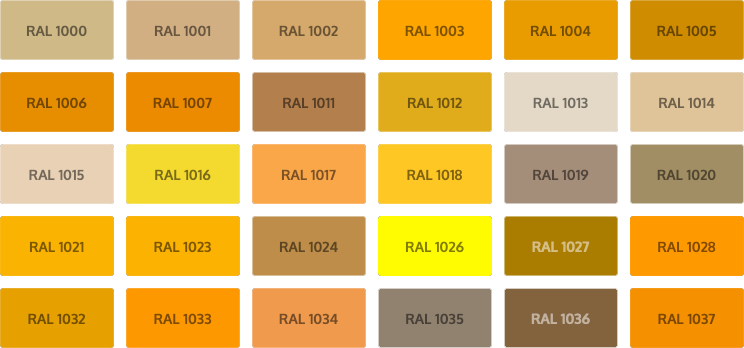 RAL Classic kleuren - geel