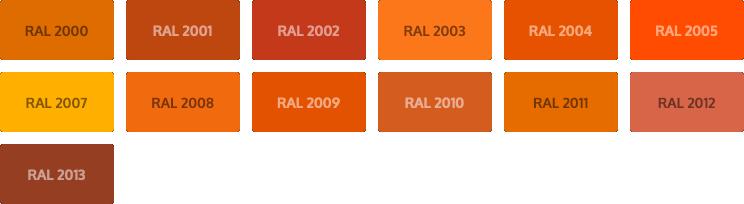 RAL Classic kleuren - oranje