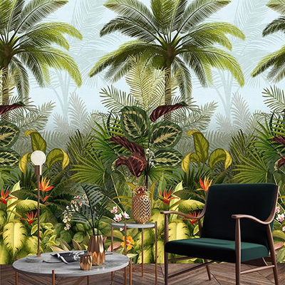 Dutch Wallcoverings Dutch Wallcoverings Jungle Fever Wall Panel Branca JF6001