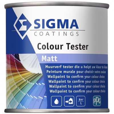 Sigma Coatings Muurverf tester