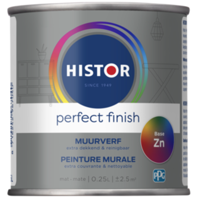 Histor  Perfect Finish Muurverf Mat Tester