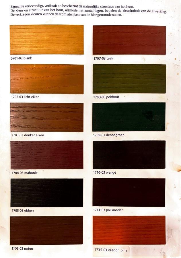 Kleurenkaart SigmaLife