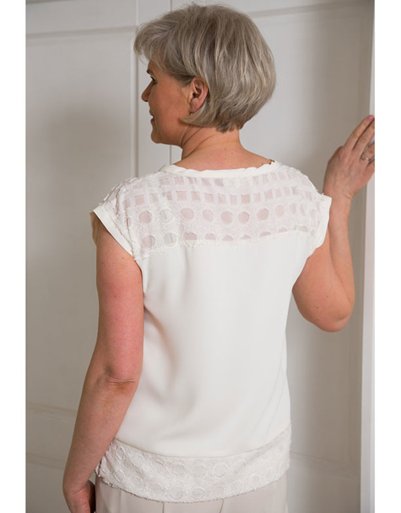 HONGO Camisa Top With Circle Patterns