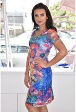 LIBRA Multi Print Lace Floral Dress