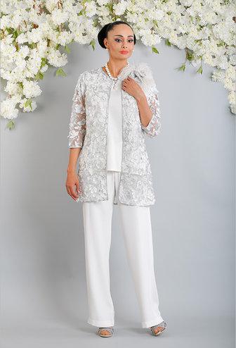 Luis Civit Floral Lace Three Piece