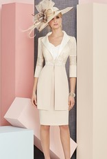 Veni Infantino Dress And Coat With Clasp