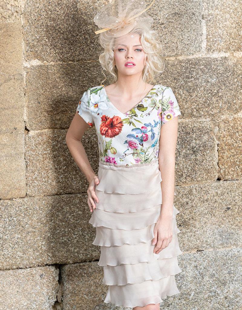 Carmen Melero Dress With Valanced Skirt