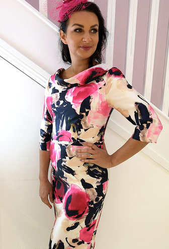 Veni Infantino Floral Print Bodycon Dress