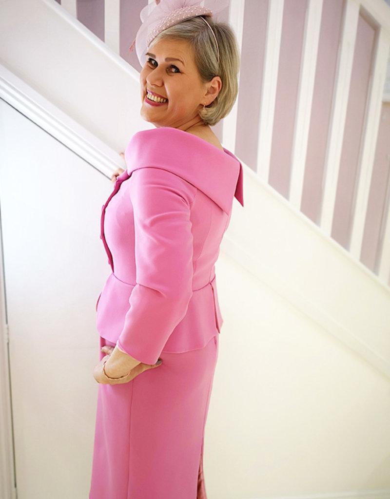 Gabriella Sanchez Rosa Dress With Peplum Detail