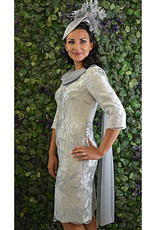 Carmen Melero Lace Sequinned Dress With Sleeve Detail