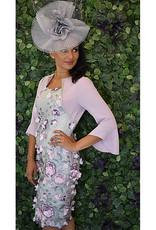 Carmen Melero Dress With Multi Floral Lace Design