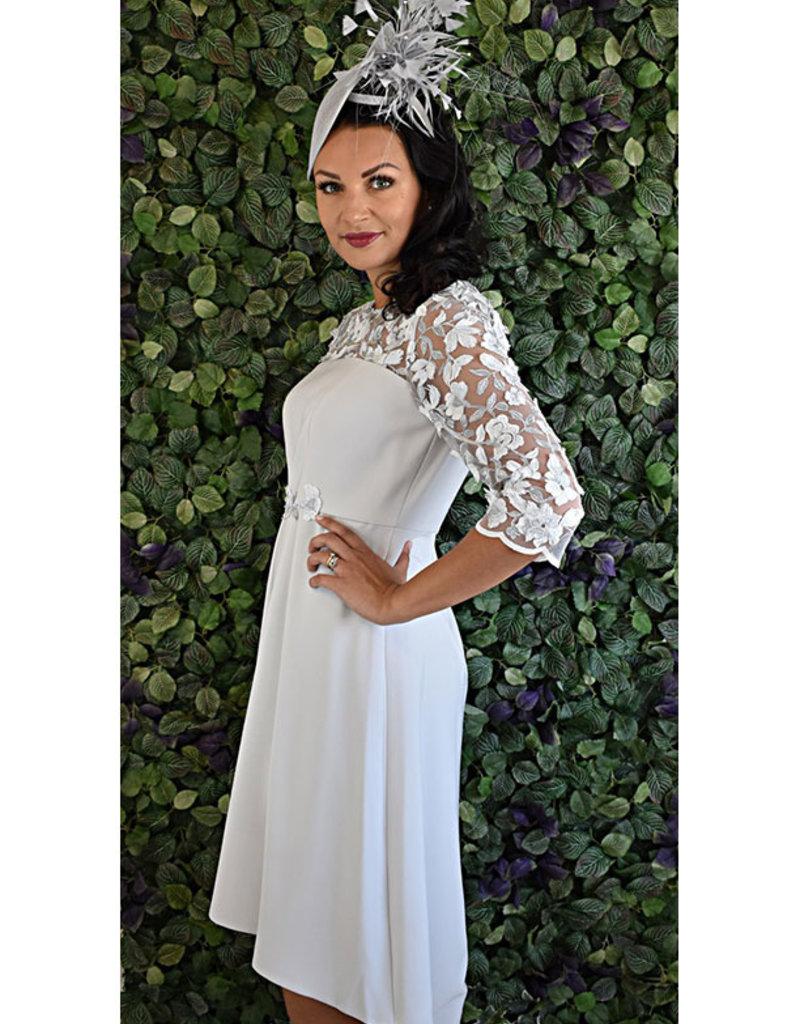 Carmen Melero Dress With Lace Sleeve