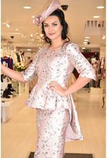Carmen Melero Peplum Dress With Floral Detail