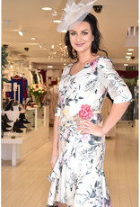 Gabriella Sanchez Floral Print Dress With Valance Skirt