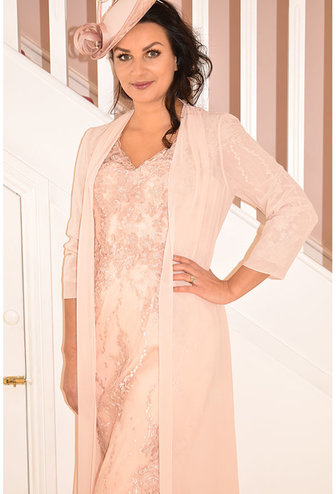 Veni Infantino Lace Dress with Sheer Cover
