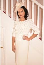 Alandar Park Limited Ivory Dress With Sequin Detail