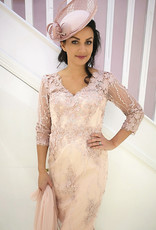 Veni Infantino Flower Lace Dress with Sheer Cover
