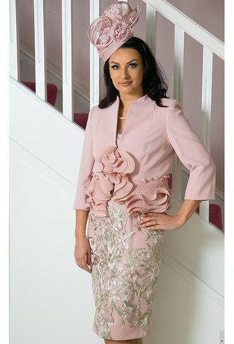Carla Ruiz Lace Dress & Rose Jacket
