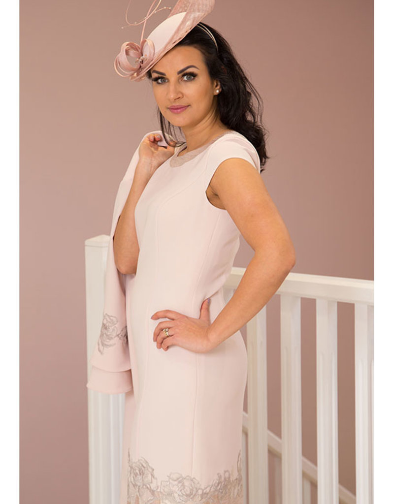 LINEA RAFFAELLI Two Piece Blossom Dress with Lace Cuffs & Bottom