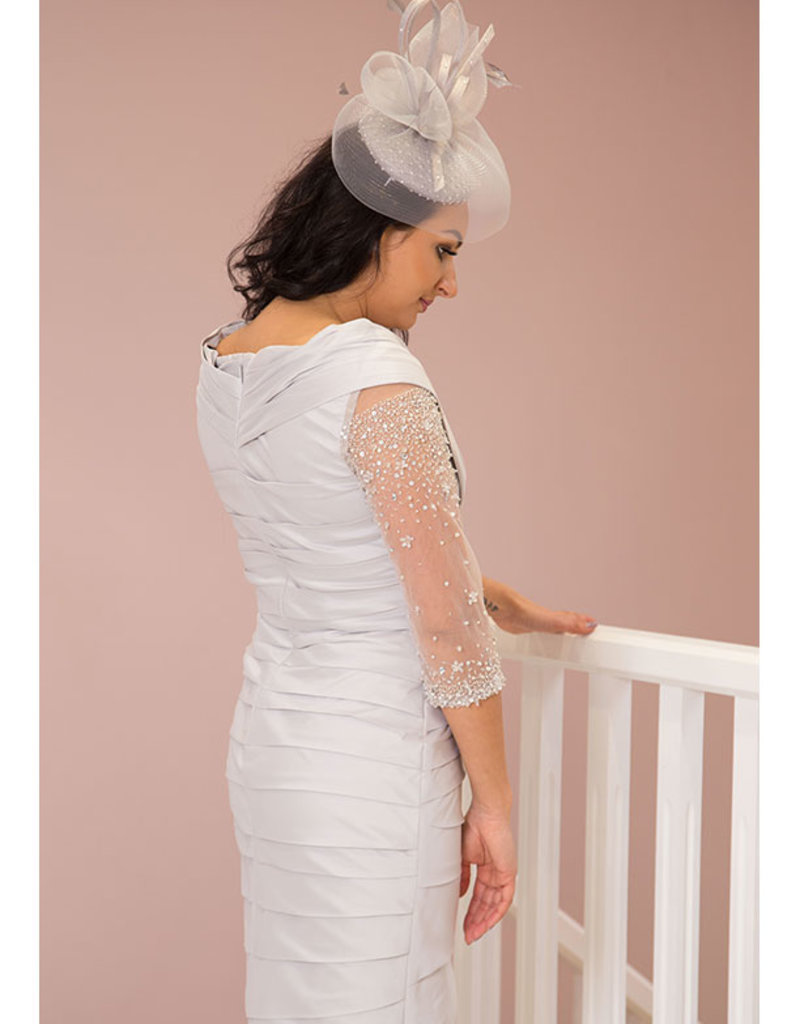 IRRESISTIBLE Dress With Sheer Sleeve & Diamond Detail