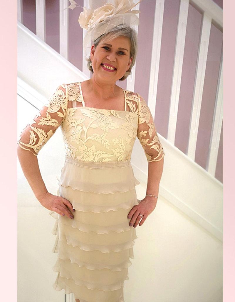 Carmen Melero Dress With Lace Top