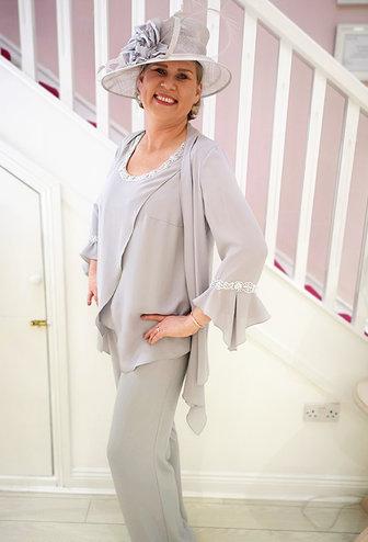 Carmen Melero Embellished Trouser Suit