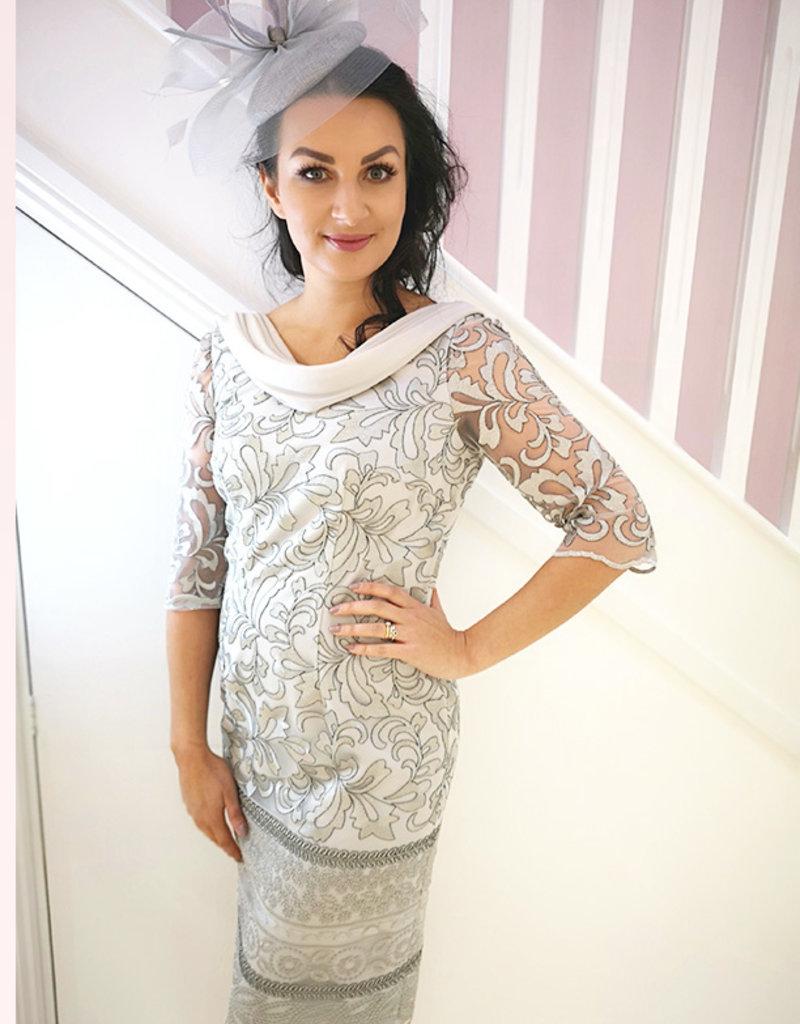 Carmen Melero Daphne Silver Patterned Dress