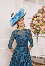 Veni Infantino Navy Floral Lace Dress