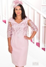 JOHN CHARLES Dress With Lace Design