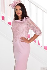 Invitations by Veni Dress With Lace Detail and Cowl Neck