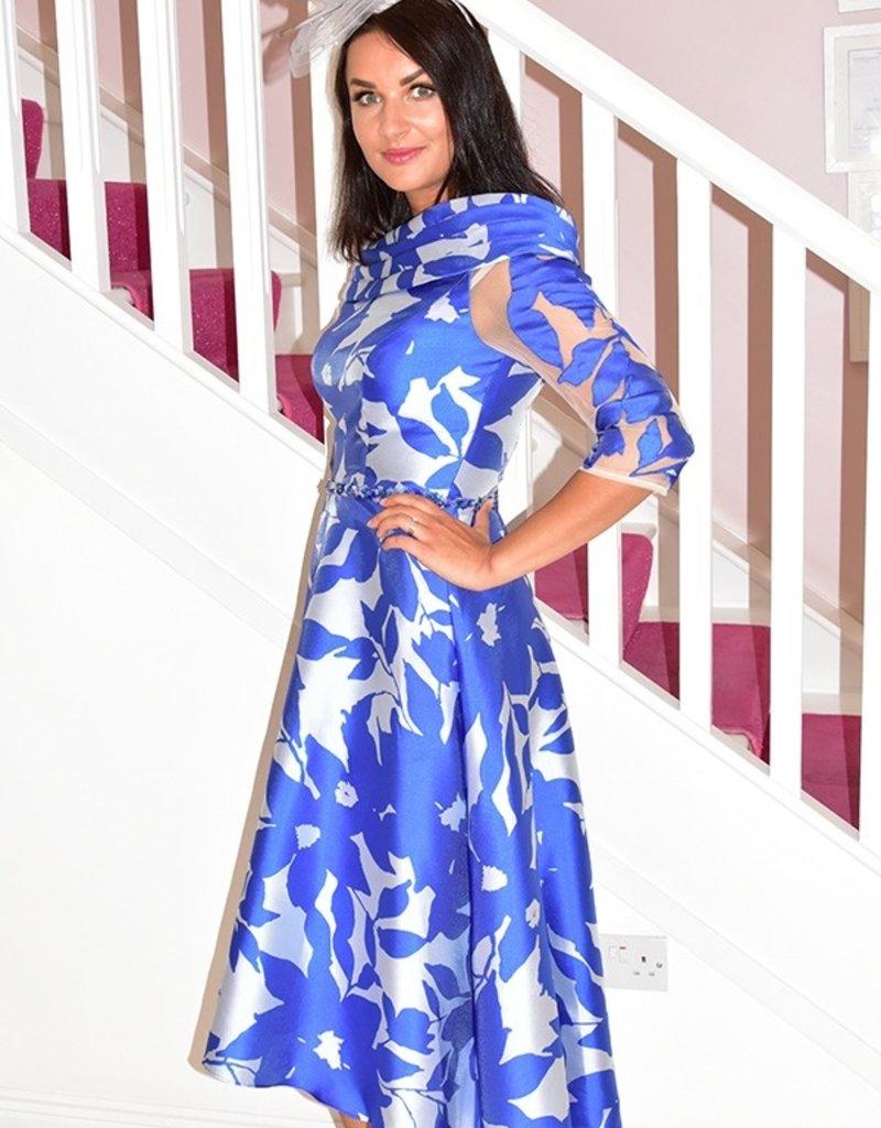 IRRESISTIBLE Long Floral Pattern Dress Diamond Detail Waist