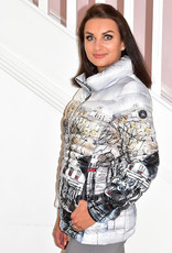 Dolcezza Printed Puff Jacket With High Collar