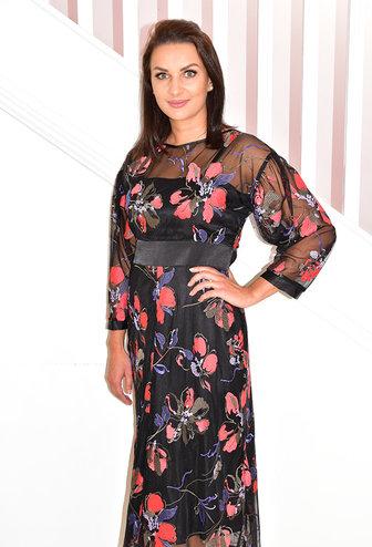 HEIDI HIGGINS 'Alice' Floral Mesh Dress