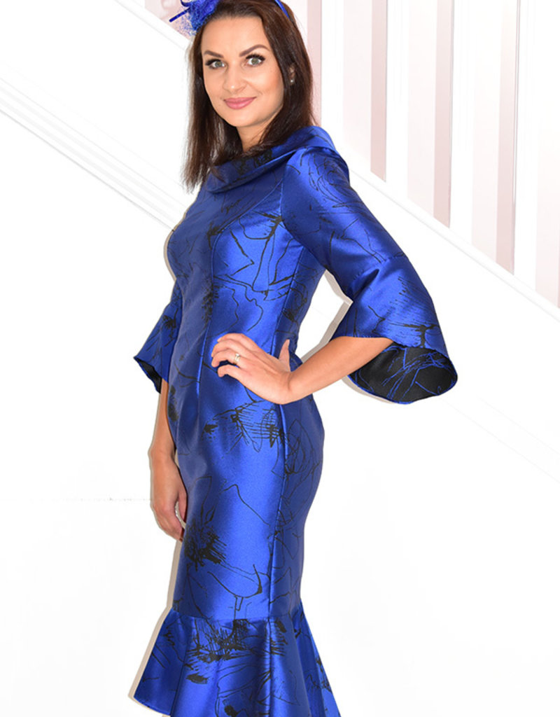 VEROMIA (DRESS CODE) Fishtail Dress With Flare Sleeves