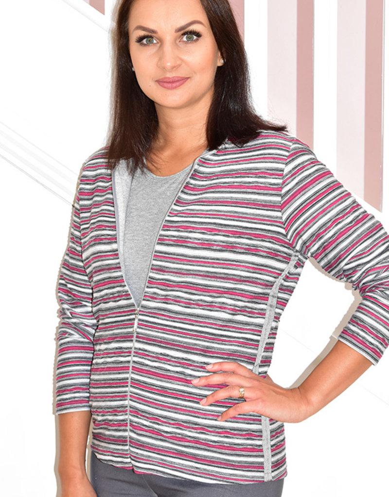 RABE Multicolour Two Piece Jacket & Silver Top