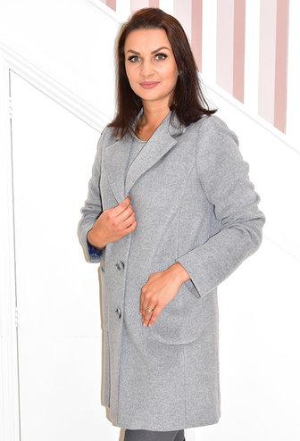 BETTY BARCLAY Grey Wool Coat With Pockets