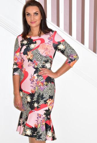 TIA Floral Print Fishtail Dress