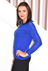 BETTY BARCLAY Blue Pullover With Sleeve Ring Detail