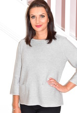 BETTY BARCLAY Grey Fine Knit Pullover With Pockets