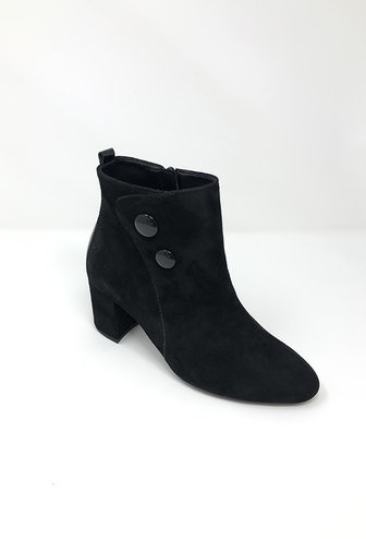 GABOR Black Ankle Boot With Patent Detail
