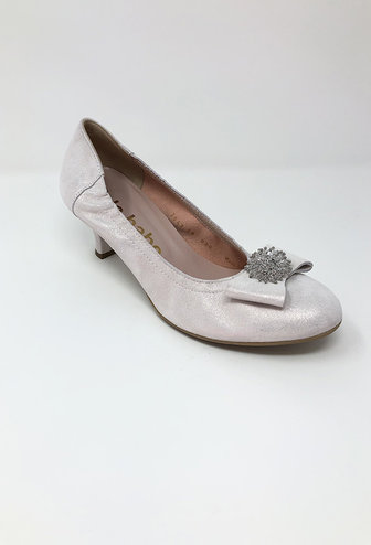 LE@BABE Low Heel With Diamond Detail On Toe