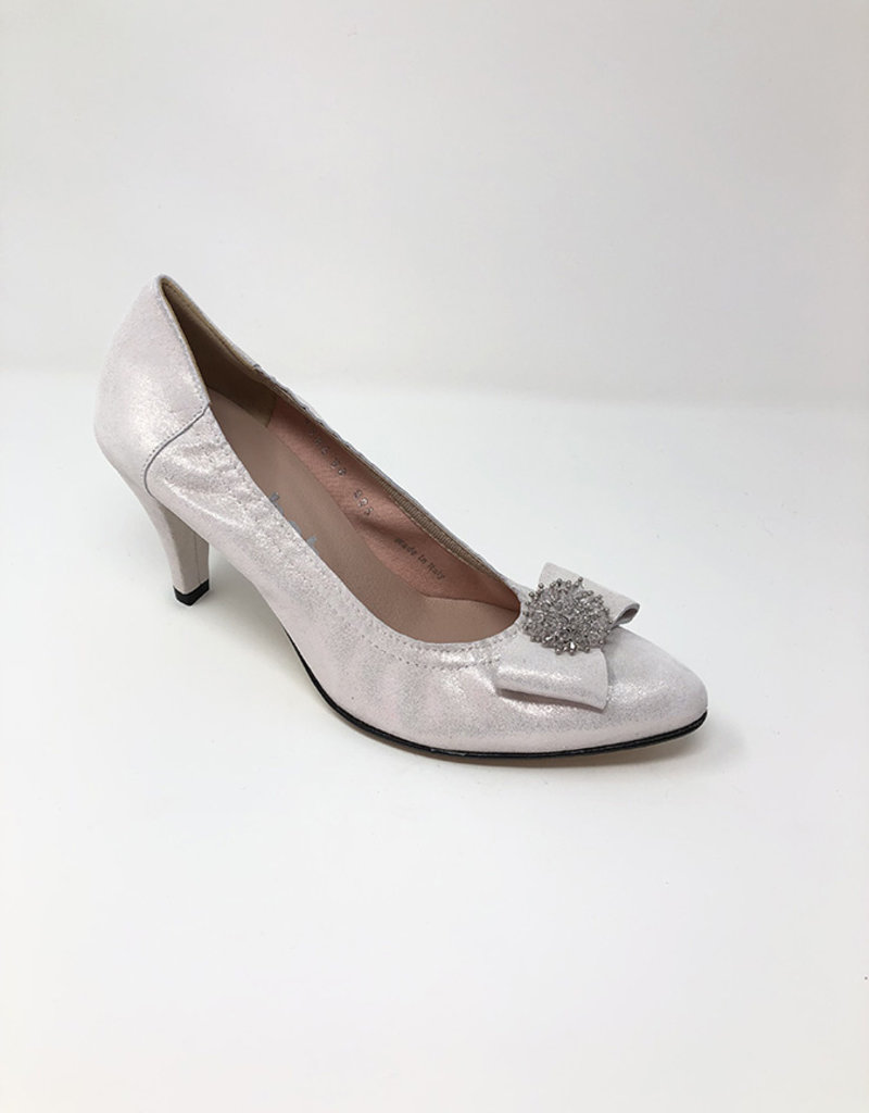 LA BABE High Heel Pointed Shoe With Bow on Toe