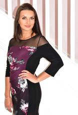 JOSEPH RIBKOFF Floral Pattern Dress With Panels