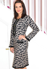 Camelot Print Dress With Frill Details