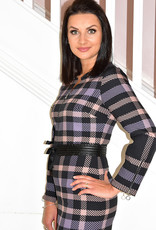Camelot Checked Dress With Zip Down the Middle