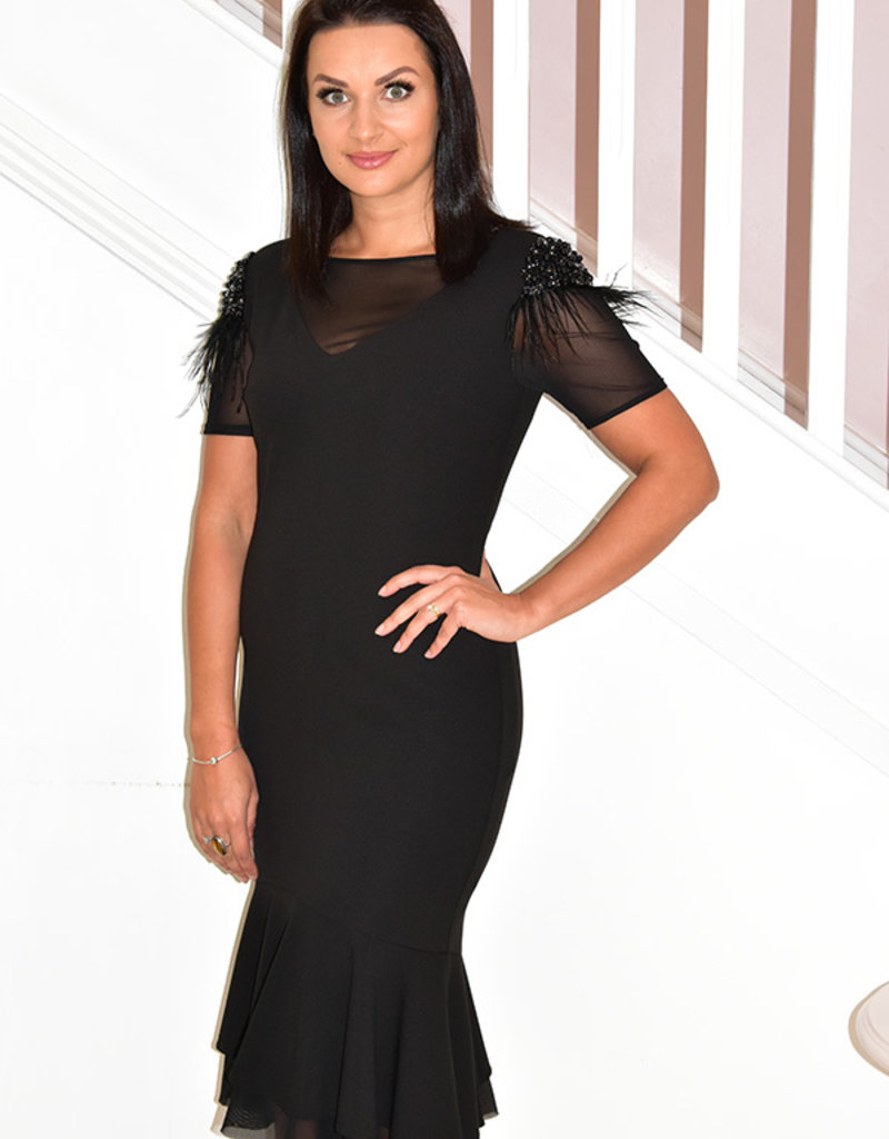 KATE COOPER Dress With Studded Detail on the Shoulder