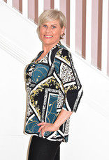 Modes Crystal Leopard Print Top With Tie Detail