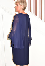 PERSONAL CHOICE (MIC Navy Dress With Gold Sleeve Detail